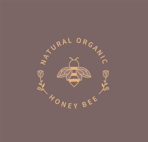 Logo d'abeille à miel.