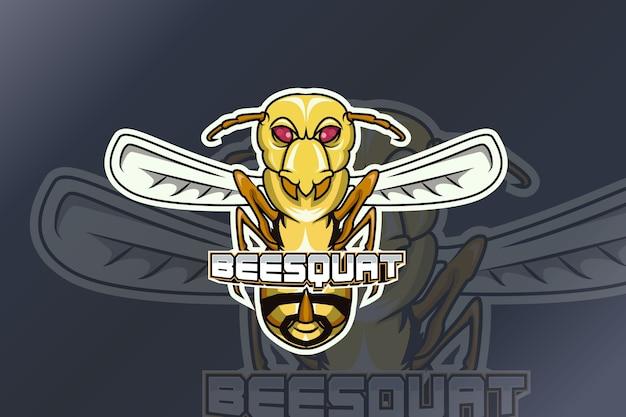 Logo abeille squat e sport