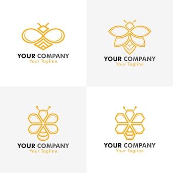 Logo d'abeille de vecteur