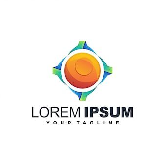Logo abstrait de cercle