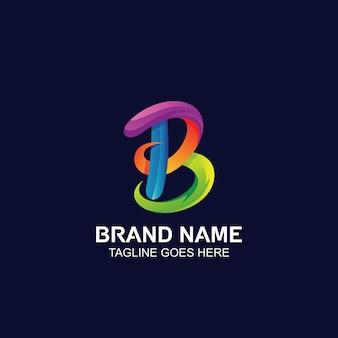 Logo abstrait coloré lettre b