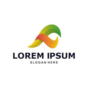 Logo abstrait coloré lettre f