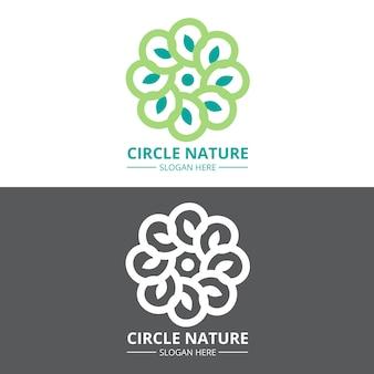 Logo abstrait dans le concept de deux versions