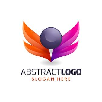 Logo abstrait dégradé coloré