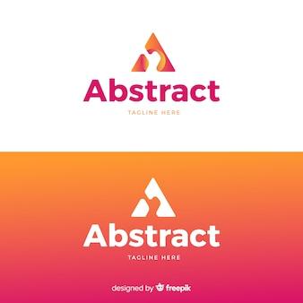Logo abstrait en dégradé