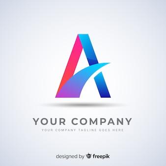 Logo abstrait dégradé