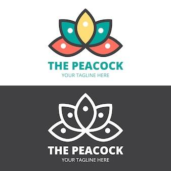 Logo abstrait en deux versions