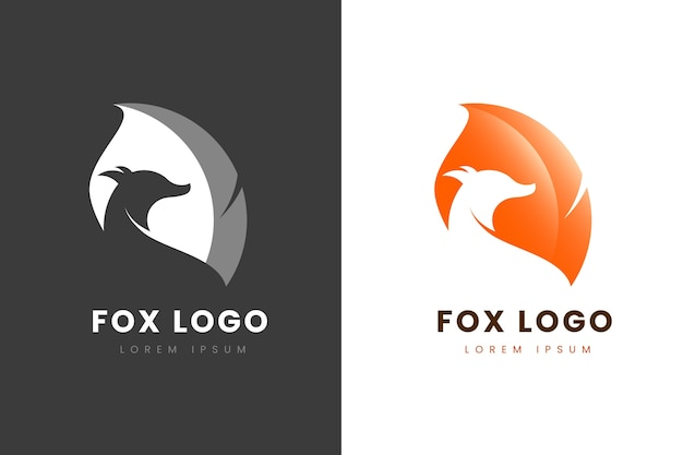 Logo abstrait en deux versions