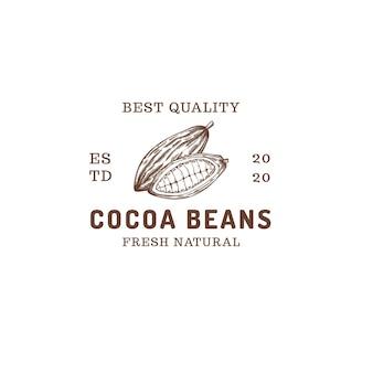 Logo abstrait de ferme de fèves de cacao