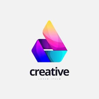 Logo abstrait en forme de feu à la mode