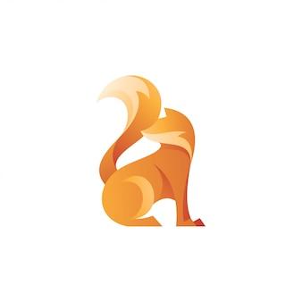 Logo abstrait fox tail