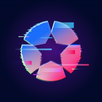 Logo abstrait de glitch