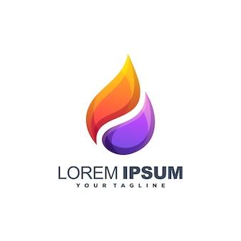 Logo abstrait d'huile