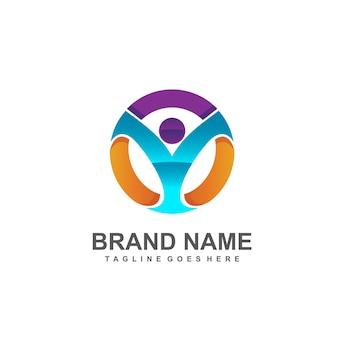 Logo abstrait humain pour le logo médical et de la fondation