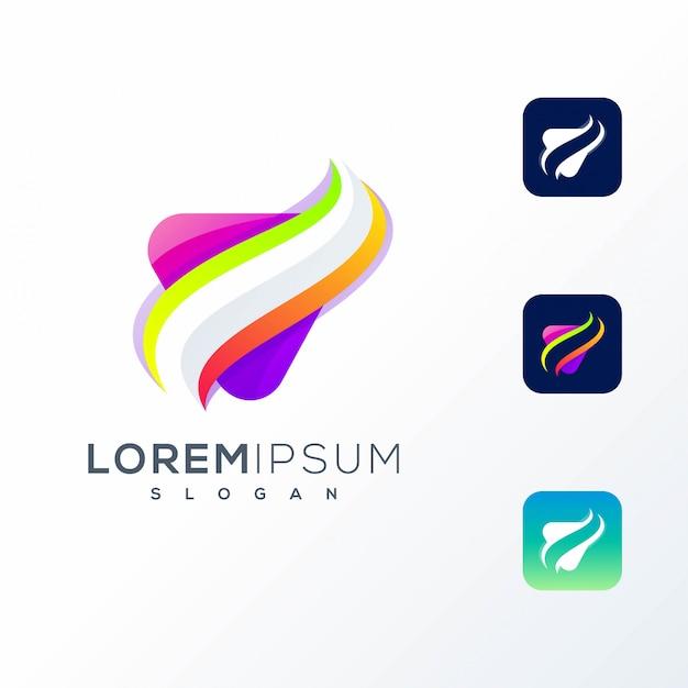 Logo abstrait icône coloré