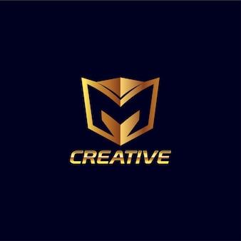 Logo abstrait lettre créative m