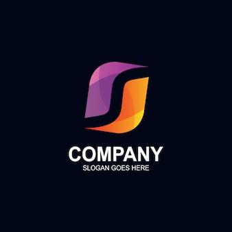 Logo abstrait de la lettre s