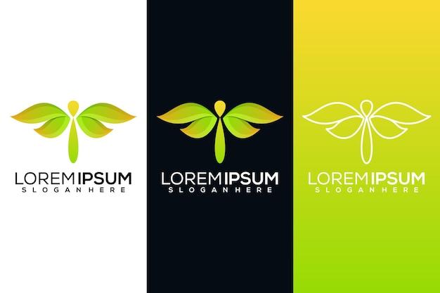 Logo abstrait libellule