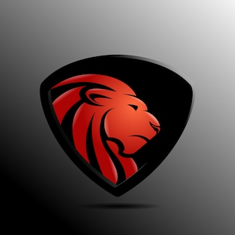 Logo abstrait lion premium