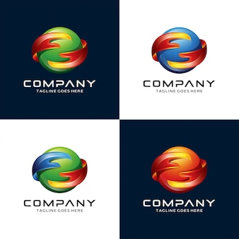 Logo abstrait main et cercle
