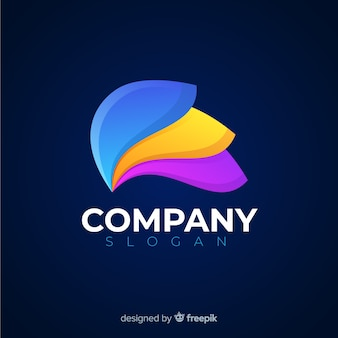 Logo abstrait de médias sociaux