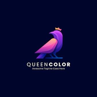 Logo abstrait oiseau reine
