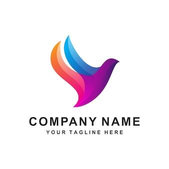 Logo abstrait oiseau