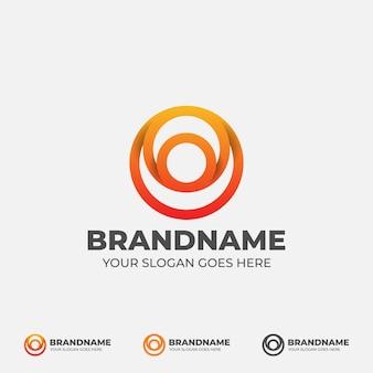 Logo abstrait de personnes de cercle
