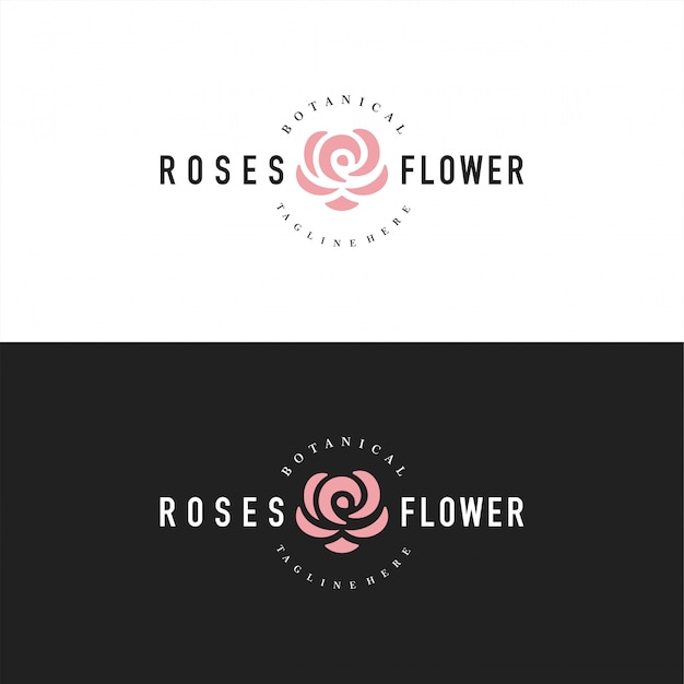 Logo abstrait rose ou logo pour fleuriste