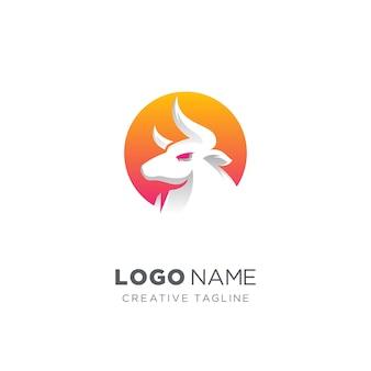 Logo abstrait de taureau