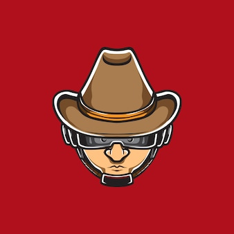 Logo en acier pour les yeux bandés