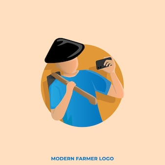 Logo d'agriculteur moderne