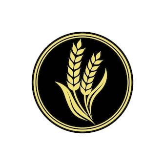 Logo d'agriculture de riz de blé