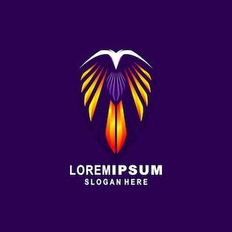 Logo de l'aigle abstrait