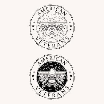 Logo De L'aigle Américain Vecteur Premium