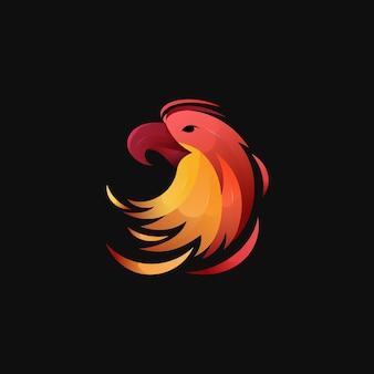 Logo d'aigle dégradé coloré moderne
