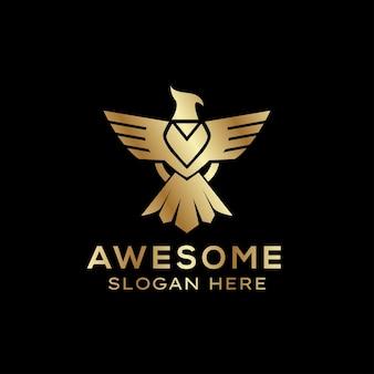 Logo d'aigle doré moderne