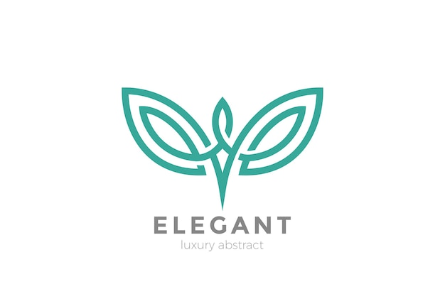 Logo ailes élégantes isolé sur blanc