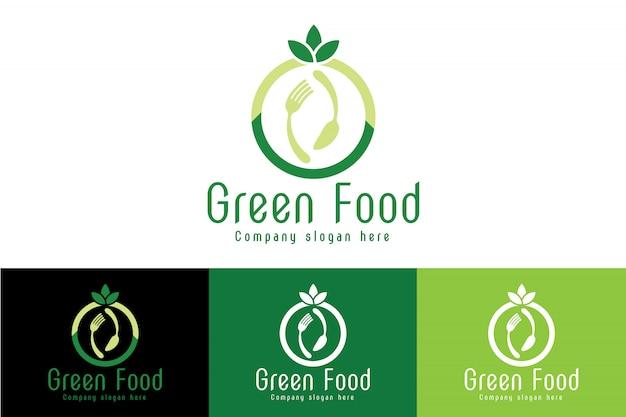 Logo des aliments biologiques et verts