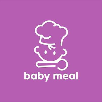 Logo d'aliments pour bébés sains kids vector