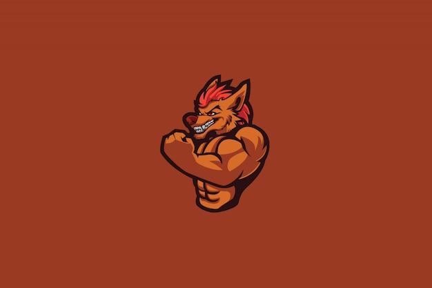 Logo alpha wolf e sports