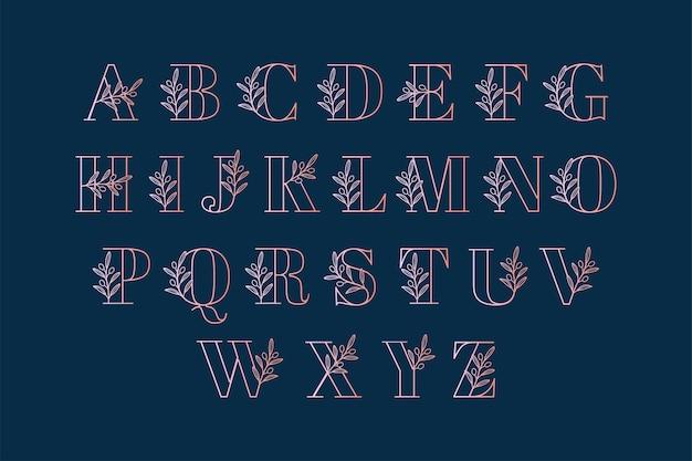 Logo alphabet lettre branche d'olivier