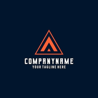 Logo d'alphabet de texte esport. lettre initiale a