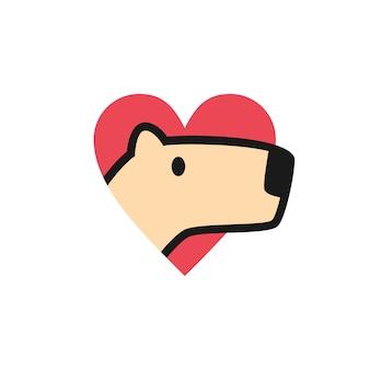 Logo d'amour de capybara