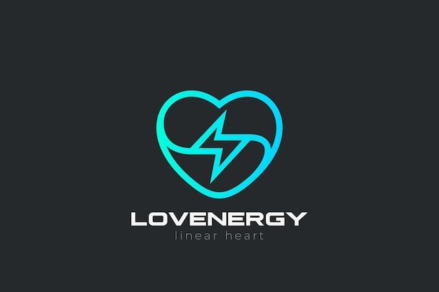 Logo d'amour de coeur.