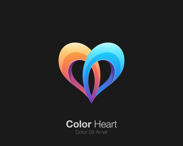 Logo d'amour coloré