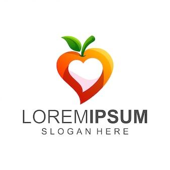 Logo d'amour de fruits