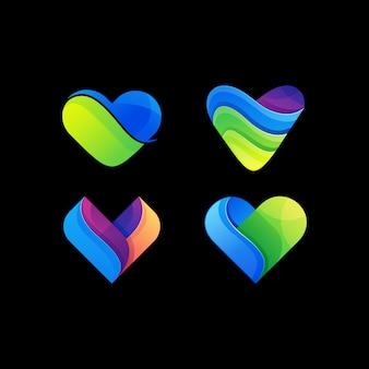 Logo d'amour moderne