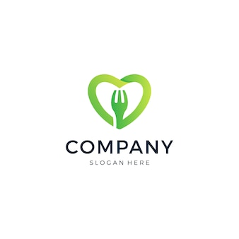 Logo de l'amour de la nourriture