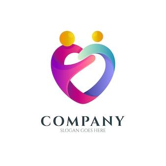 Logo d'amour et de soins humains